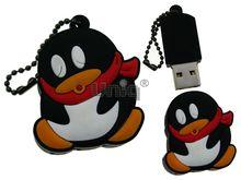 Флешка Uniq USB 2.0 ПИНГВИН Спящий красн шарф, противоударн. Резина 4GB (04C14895U2)