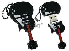 Флешка Uniq USB 2.0 ГИТАРА черный Резина 4GB (04C14905U2)