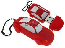 Флешка Uniq USB 2.0 AUTO Автомобиль красный Резина 4GB (04C14911U2)