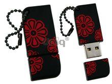 Флешка Uniq USB 2.0 ОРНАМЕНТ черн-красн разборн, водонепрониц. Резина 4GB (04C14913U2)