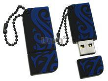 Флешка Uniq USB 2.0 ОРНАМЕНТ черн-синий разборн, водонепрониц. Резина 4GB (04C14915U2)