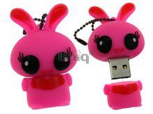 Флешка Uniq USB 2.0 ЗАЙКА розовая 4GB (04C14925U2)