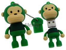 Флешка Uniq USB 2.0 ОБЕЗЬЯНКА зеленая 4GB (04C14943U2)