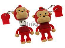 Флешка Uniq USB 2.0 ОБЕЗЬЯНКА красная 4GB (04C14944U2)