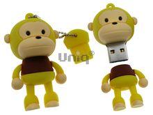Флешка Uniq USB 2.0 ОБЕЗЬЯНКА желтая 4GB (04C14946U2)