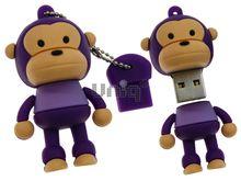 Флешка Uniq USB 2.0 ОБЕЗЬЯНКА фиолетовая 4GB (04C14947U2)