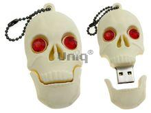 Флешка Uniq USB 2.0 ЧЕРЕП беж., красн. глаза, разборная, противоударн. Резина 4GB (04C14984U2)