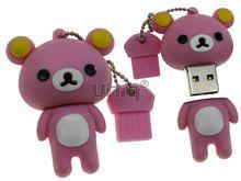 Флешка Uniq USB 2.0 МЕДВЕЖОНОК Желтые Ушки розовый 4GB (04C14986U2)