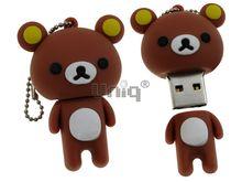 Флешка Uniq USB 2.0 МЕДВЕЖОНОК Желтые Ушки коричневый 4GB (04C14987U2)