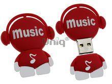 Флешка Uniq USB 2.0 DJ MUSIC TAB красный 4GB (04C14988U2)