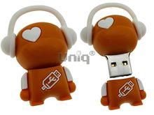 Флешка Uniq USB 2.0 DJ MUSIC FLASH оранжевый / белый 4GB (04C14990U2)