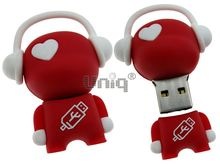 Флешка Uniq USB 2.0 DJ MUSIC FLASH красный / белый 4GB (04C14991U2)