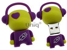 Флешка Uniq USB 2.0 DJ MUSIC FLASH желтый / фиолетовый 4GB (04C14992U2)