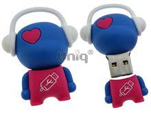 Флешка Uniq USB 2.0 DJ MUSIC FLASH голубой / розовый 4GB (04C14993U2)