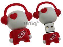 Флешка Uniq USB 2.0 DJ MUSIC FLASH белый / красный 4GB (04C14995U2)