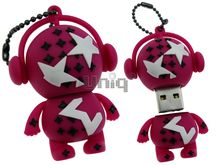 Флешка Uniq USB 2.0 DJ MUSIC M-STAR малинов 4GB (04C14997U2)