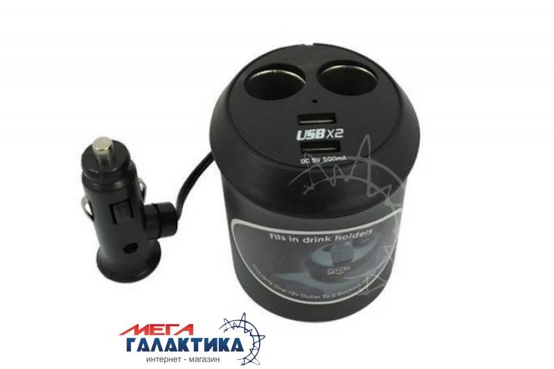 Разветвитель для автоприкуривателя WF-6028 3х12/24V + 2USB 1000mA, 5V Фото товара №1