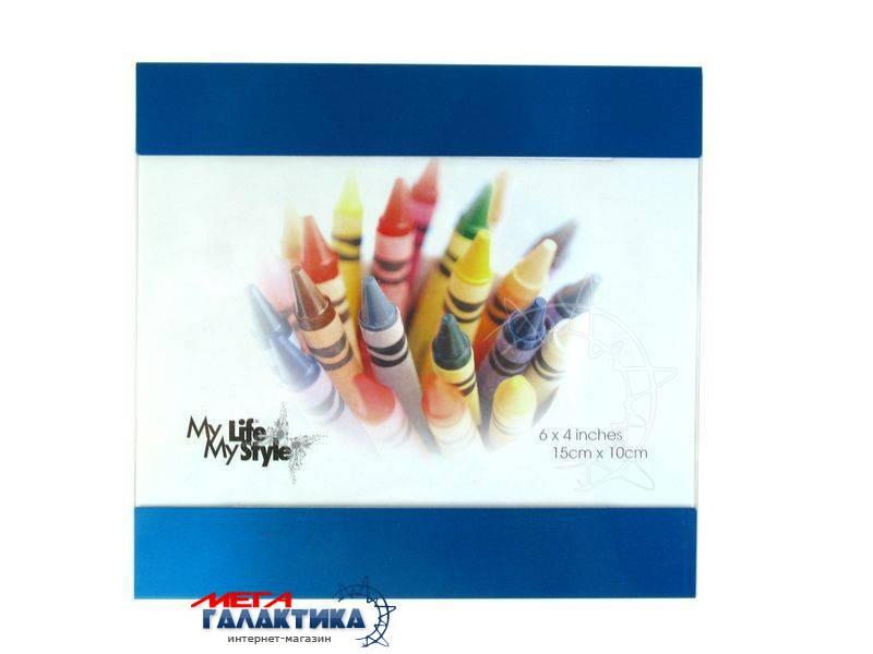 Рамка 10х15 Asia AC107, Blue, Металл, синяя Фото товара №1
