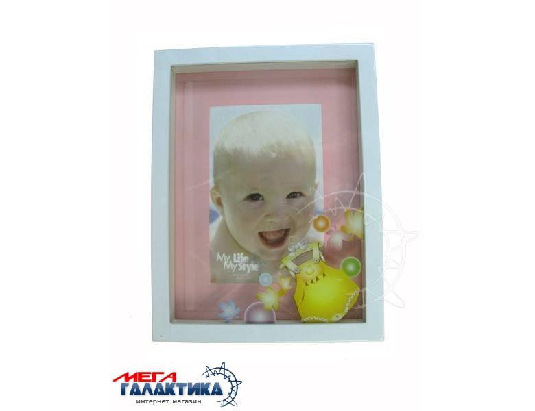 Рамка 10х15 Asia AB123 Girl, Детская, пластик бел Фото товара №1