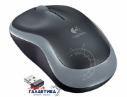 Мышка Logitech M185 910-002238 Wireless+USB  Gray