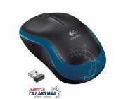 Мышка Logitech M185 (910-002239) Wireless    Blue Black