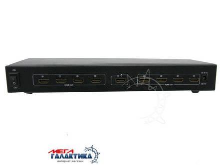 Разветвитель Megag HDMI Splitter SP108  (1 вход - 8 выходов, с блоком питания, 1080p) Black