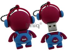 Флешка Uniq USB 2.0 DJ MUSIC BABY малиновый / голубой 4GB (04C17000U2)