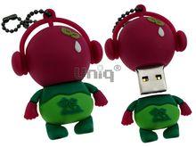 Флешка Uniq USB 2.0 DJ MUSIC GREENPEACE малиновый / зеленый 4GB (04C17001U2)