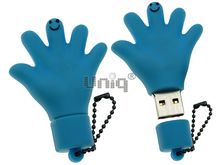 Флешка Uniq USB 2.0 ПАЛЬЦЫ HELLO! голуб. водонепрониц. Резина 4GB (04C17003U2)