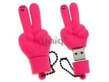 Флешка Uniq USB 2.0 ПАЛЬЦЫ HI ! розов. водонепрониц. Резина 4GB (04C17005U2)