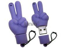 Флешка Uniq USB 2.0 ПАЛЬЦЫ HI ! сиренев. водонепрониц. Резина 4GB (04C17006U2)