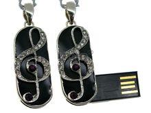 Флешка Uniq USB 2.0 МЕЧТА Музыканта Скрипичный Ключ Серебро / Фиолетовый 4GB (04C17030U2)