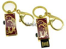 Флешка Uniq USB 2.0 ШАМАХАНСКАЯ ЦАРИЦА Дракон золото / красный [металл, эмаль] 4GB (04C17036U2)