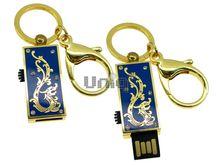 Флешка Uniq USB 2.0 ШАМАХАНСКАЯ ЦАРИЦА Дракон золото / синий [металл, эмаль] 4GB (04C17037U2)