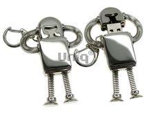 Флешка Uniq USB 2.0 НАНО РОБОТ метал, серебро, разборной Водонепр. 4GB (04C17039U2)