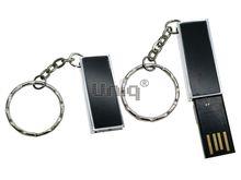 Флешка Uniq USB 2.0 ОФИС черная, металл выдвижн. 4GB (04C17049U2)