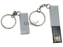 Флешка Uniq USB 2.0 ОФИС серебро 3D, металл выдвижн. 4GB (04C17050U2)