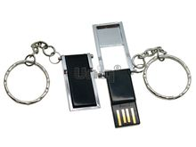 Флешка Uniq USB 2.0 ОФИС черная,серебро,пластик раскладная 4GB (04C17061U2)