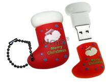 Флешка Uniq USB 2.0 САПОГ РОЖДЕСТВЕНСКИЙ красный,Flash USB водонепрониц. Резина 4GB (04C17068U2)
