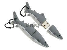 Флешка Uniq USB 2.0 АКУЛА светлый серый Резина 4GB (04C17071U2)