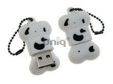 Флешка Uniq USB 2.0 КОСТОЧКА белая Flash USB водонепрониц. Резина 4GB (04C17072U2)