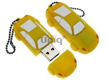 Флешка Uniq USB 2.0 AUTO Автомобиль желтый Резина 4GB (04C17079U2)