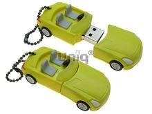 Флешка Uniq USB 2.0 AUTO Автомобиль Кабриолет желтый Резина 4GB (04C17080U2)