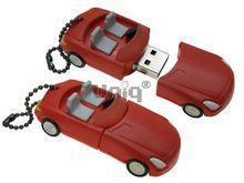 Флешка Uniq USB 2.0 AUTO Автомобиль Кабриолет красный Резина 4GB (04C17081U2)
