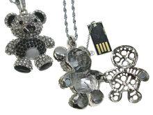 Флешка Uniq USB 2.0 АНИМАЛ Медведь Серебро / Черный 4GB (04C17102U2)