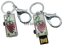 Флешка Uniq USB 2.0 ШАМАХАНСКАЯ ЦАРИЦА Клубника серебро / белый [металл, эмаль] 4GB (04C17124U2)