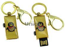 Флешка Uniq USB 2.0 ПИНГВИН Золотой 4GB (04C17126U2)