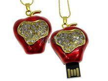 Флешка Uniq USB 2.0 ЯБЛОКО РИХАРД золото / красный [металл, эмаль, камни] 4GB (04C17153U2)