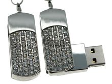 Флешка Uniq USB 2.0 СИЯНИЕ ЗВЁЗД серебро 51кам U-812 42гр 45х19х10мм+цепь Водонепр. 4GB (04C17174U2)