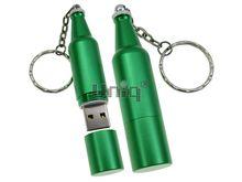 Флешка Uniq USB 2.0 БУТЫЛКА Пива зеленая [металл] 4GB (04C17227U2)